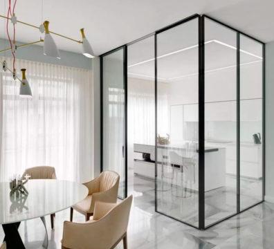 стеклянные перегородки в квартиру